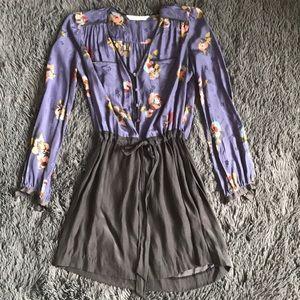 Rebecca Taylor silk floral stylish dress